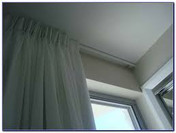 ceiling mounted curtain rods track curtain home decorating