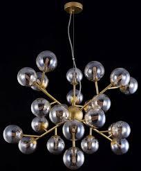 casa padrino wohnzimmer hängeleuchte gold ø 65 x h 40 cm hängele mit kugelförmigen lenschirmen