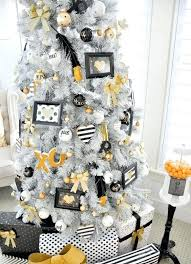 Black Christmas Tree Decorations White With Whimsy And Gold Decor Xmas