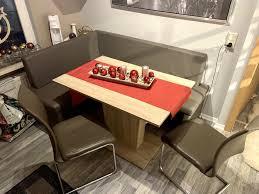 moderne eckbank sitzbank inkl tisch und 2 stühle