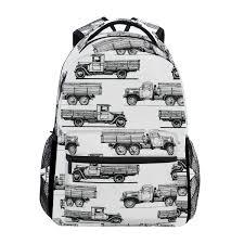 100 Monster Truck Backpack TIZORAX Cartoon S School Bag Bookbag Hiking