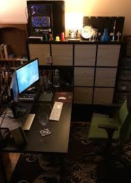 Ikea Linnmon Corner Desk Hack by Ikea Hacking U2013 Kallax And Linnmon Mega Desk Novakane Ca