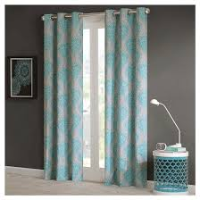 Tahari Home Curtain Panels by Blue Damask Curtains Target