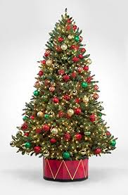 72 Inch Christmas Tree Skirts by Amazon Com Standup Tree Skirt Drum Home U0026 Kitchen