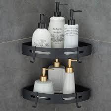 eckablage duschkorb duschregal ohne bohren aluminium