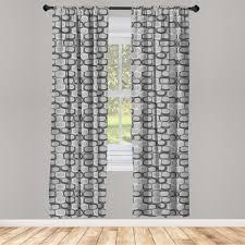 gardine fensterbehandlungen 2 panel set für wohnzimmer schlafzimmer dekor abakuhaus abstrakt steinwand muster kaufen otto