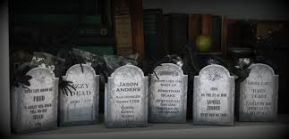 Halloween Tombstone Names by Halloween Party Names Clever