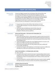 Resume Front End Developer Objectivejob Sample Designer ...