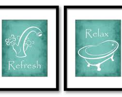 teal bathroom etsy