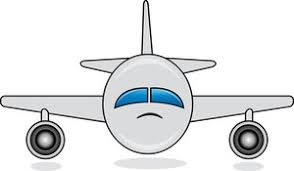 Travel Clipart Image Clip Art Illustration Of An Airplane Taking Off