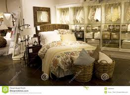 Home Bedroom Decor Furniture Store Stock Image