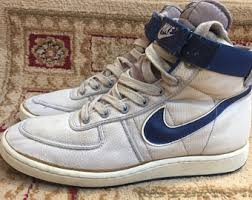 Mens Vintage 80s Original NIKE Swoosh 1985 Basketball Shoes Size US 10