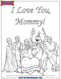 Happy Mothers Day From Disney Frozen Cast Coloring Page