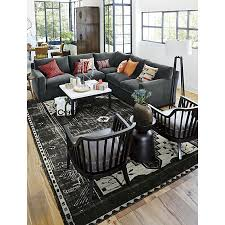 axis 3 piece sectional sofa crate and barrel living rooms