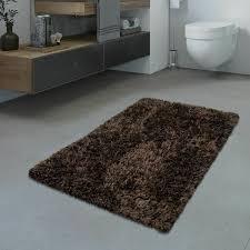 коврик для дома badezimmer teppich hochflor badematte modern kuschelig weich uni braun