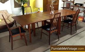 Long Skinny Dining Table Thin Room Folding Narrow Danish Teak