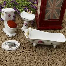 puppenhaus miniatur badezimmer flush wc closes