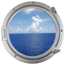 decorative ship porthole window silver 24 beach style