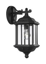 84030 12 one light outdoor wall lantern black