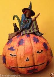 Jim Shore Halloween Ebay by Jim Shore Halloween Witch Weather Vane 2007 Comes The Storm