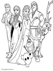 Frozen Coloring Pages Photo Gallery Of To Print