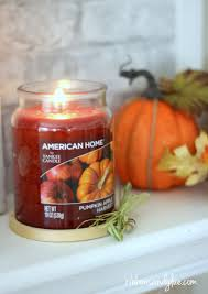 Yankee Candle Pumpkin Apple by Fall Embroidery Hoop Mantel