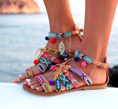 Betty Boop Bath Set by Sandals Gladiator Leather Sandals Friendship Bracelets Pom