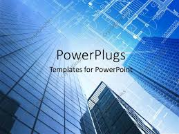 Floor Plan Template Powerpoint by Powerpoint Template Architectural Design And Floor Plan With Sky