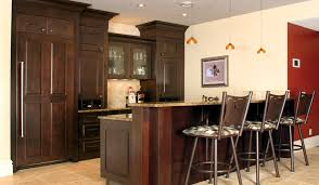 staggering heights bar custom cabinets
