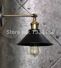american country style wall sconce rh metal wall lights bedroom