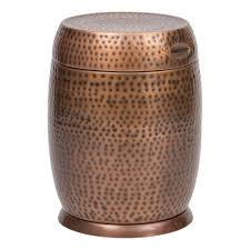 Bombay Outdoors Gold Madras Drum Patio Side Table A004750 999A