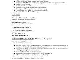 Law Enforcement Resume Sample Example Criminal Profile