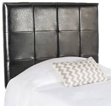 Black Leather Headboard Bed by Quincy Black Leather Headboard Headboards Furniture By Safavieh