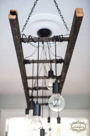 Edison Chandelier Bulb Ladder Light Industrial Decor Lighting Antique