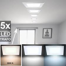 etc shop led panel 5er set led einbau leuchten decken strahler weiß schlafzimmer alu raster len kaufen otto