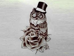 Cool Owl Drawings For Tattoos Tattoo Designs