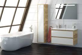 badmöbel set cristal 90 cm led badezimmer möbel mit waschbecken eiche grau