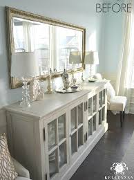 Restoration Hardware French Casement Sideboard Buffet In Blue Dining Room BEFORE