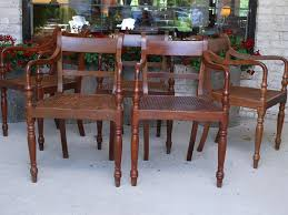 A Matched Set Of Ten British Colonial Dining Chairs Made In The 19th Century Teak