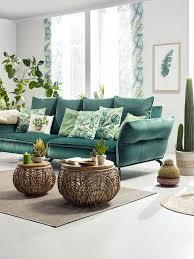megasofa in grün mit kissen kaufen grüne wohnzimmer