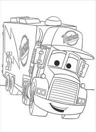 Download And Print Coloring Pages For Mack The Truck Disney Cars At