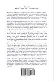 From Hegel To Existentialism Robert C Solomon 9780195061826 Books