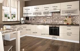 küchenzeile einbauküche glasfront küche l form fino weiß 190x360cm