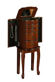 Amazon.com: Linon Home Decor Ruby Cherry Jewelry Armoire: Kitchen ... Necklace Holder Beautiful Handmade Armoire Jewelry Box Of Exotic Woods Fniture Best Wood Storage Material Design For Bedroom Outstanding Kohls Walmart Cherry In Decor Pretty Of Perfect Ideas Sale 28500 Classic Oak Coaster Co Wallmounted Locking Wooden 145w X 50h In Cabinet Organizer With 6 Drawers Armoires Hillary Rich Walnut Hives And Honey With Used Jewelry Armoire Abolishrmcom Readers Gallery Fine Woodworking Belham Living Swivel Cheval Mirror Hayneedle