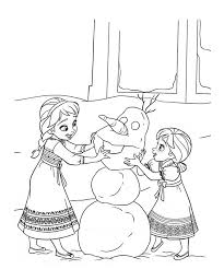 Sisters Frozen Coloring Page