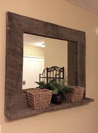 Rustic Industrial Bathroom Mirror by Rustic Wood Mirror Pallet Furniture Rustic Home Decor Reclaimed