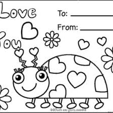 Coloring Pages Valentines Cards Printable Cooloring