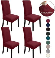 NORTHERN BROTHERS Dining Chair Covers Stretch Chair Covers Parsons Chair  Slipcover Chair Covers For Dining Room Set Of 4,Wine Red Amazoncom 6 Pcs Santa Claus Chair Cover Christmas Dinner Argstar Wine Red Spandex Slipcover Fniture Protector Your Covers Stretch 8 Ft Rectangular Table 96 Length X 30 Width Height Fitted Tablecloth For Standard Banquet And House 20 Hat Set Everdragon Back Slipcovers Decoration Pcs Ding Room Holiday Decorations Obstal 10 Pcs Living Universal Wedding Party Yellow Xxxl Size Bean Bag Only Without Deisy Dee Low Short Bar Stool C114 Red With Green Trim Momentum Lovewe 6pcs Nordmiex Spendex 4 Pack Removable Wrinkle Stain Resistant Cushion Of Clause Kitchen Cap Sets Xmas Dning