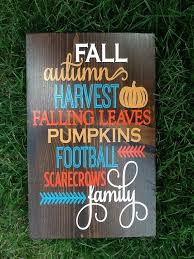 Fall Wood Sign Home Decor Autumn By PixieDustLouisville