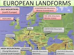 mountain ranges of europe the european continent